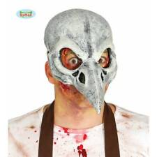 Corbeau latex DEMI CRÂNE Oiseau Noir mort masque HORREUR HALLOWEEN