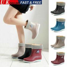 Warm Gefüttert Damen Regenstiefel Gummistiefel Stiefel Schuhe für Garten Arbeite