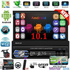 """Single 1 Din 7"""" Android 10.1 Car Stereo Radio Mannual Flip Out GPS Wifi + Camera"""