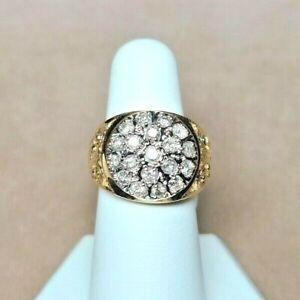 $850 Mens 14K Diamond Ring 1.33cts 7.8g Sz 9.25 Ladies too !