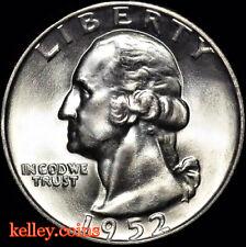 1952-D 25C Washington Silver Quarter BU