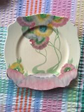Clarice Cliff Pink Pearls Leda Plate