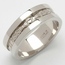 Heavy Weight Claddagh Wedding Ring Deposit for - Sterling Silver Men's