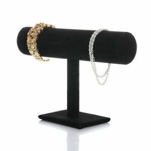 Stand Bracelet Chain Bangle Watch T-bar Rack Holder Display Jewelry Black