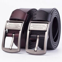 Fashion Mens Leather Belt Casual Pin Buckle Waist Belt Waistband Belts Strap New