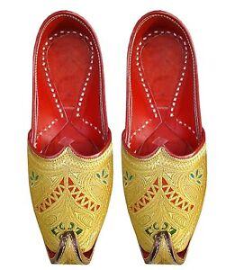 Aladdin Shoes Leather Khussa shoes Handmade Gents Shoes sherwani shoes juti US-9