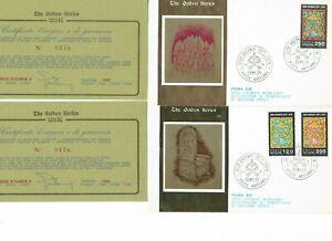 s30743) VATICANO 1978 FDC Golden Series Sede Vacante (gold Foil 23k)