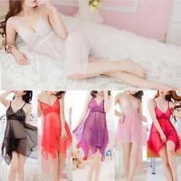 Dessous Sexy Lingerie Set Lacet Robe Femmes Vêtements Nuit G-string Nuisette AM