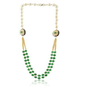 Attractive Fashion Charm Indian Pearl Bead Chain Necklace Women Jewelry