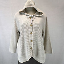 NEW Focus Casual Life Plus Size Sweater Hooded Waffle Oatmeal Jacket Cotton 3X