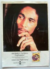 BOB MARLEY AND THE WAILERS 1983 original POSTER ADVERT CONFRONTATION Island