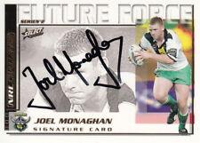 2002 NRL CHALLENGE FUTURE FORCE SIGNATURE CARD - FF20 JOEL MONAGHAN RAIDERS