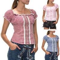 Hailys Damen Bluse Hemdbluse Trachtenbluse Rüschenbluse Oktoberfest Wiesn