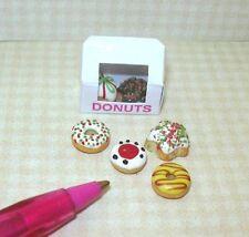 Miniature Christmas Donuts/Doughnuts, Loose w/Box for DOLLHOUSE Scene 1/12
