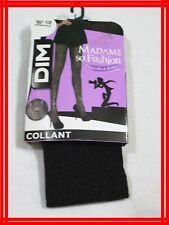 DIM MADAME SO FASHION Taille 1 -2 collant fantaisie pourpre noir ORIGINALITE