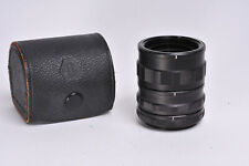 Asahi Pentax Set of Manual Extension Tubes In AOC Leather case