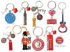 Best Mix of British London Icons  Mix of 9 Key Rings -UK Souvenir