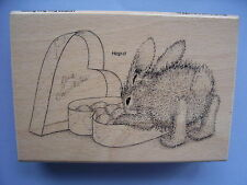 HOUSE MOUSE RUBBER STAMPS HAPPY HOPPERS  BON BON BUNNY NEW WOOD STAMP