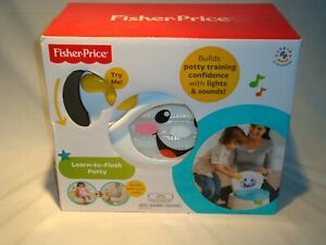 NOS Fisher Price Learn To Flush Potty Training Chair Light, Sound ,Twirling NEAT