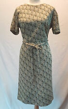 Vintage DAUPHINE L'AIGLON  Dress Womens Secretary Size M Gold Sparkly Spiral