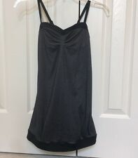 Women's Lululemon Yoga Tank Top Gray And Black Built In Unpadded Bra Size 6?