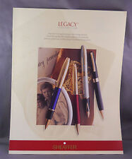 Sheaffer l998 Legacy Dealer Catalog Sheet-4 pages