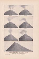 Veränderungen Vesuv-Gipfels vom 8. Juli bis 29. Oktober 1767 DRUCK von 1903