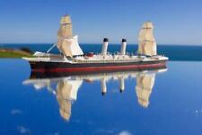 "NATIONAL LINE SS AMERICA RARE BASSETT LOWKE STYLE WATERLINE MODEL SHIP 50' TO 1"""