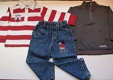 Lote niño: pantalón shinchan, polo, sudadera, talla 24 meses