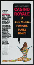 CASINO ROYALE PETER SELLERS JAMES BOND MCGINNIS ART 1967 3-SHEET