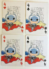 THOR JANE FOSTER Set of 4 FUNKO Pop MARVEL Playing Cards - ACE,KING,QUEEN,JACK
