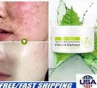 VIBRANT GLAMOUR Tea Tree Anti-Acne Face Cream Moist Acne Scar Remove Skin Care