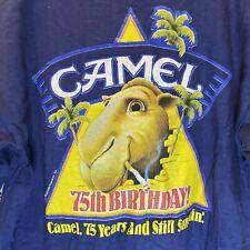 New ListingVintage Joe Camel Cigarettes Tobacco 75th Birthday 1988 T Shirt Pocket Size L