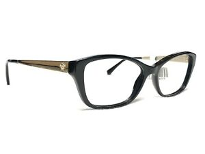 Versace MOD3236 GB1 Womens Black & Gold Cat's Eye Rx Eyeglasses Frames 54/16~140