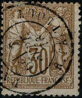 FRANCE  1876 30c Sage Type I  Oblitéré/ Used  Beau Cachet