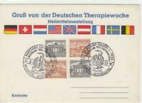 Germany 1955 german therapy week stamps card R20590
