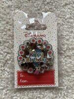Disney Paris DLP happy Burthday Spinner Pin Fab 5 Mickey Minnie Pluto OE HTF NEW