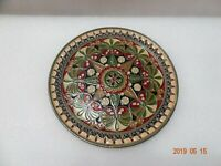 VINTAGE BYZANTINE ENAMEL MOSAIC BRONZE HAND PAINTED WALL PLATE