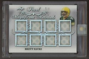 2019 Leaf Pearl Magnificent Materials Brett Favre Multi GU Jersey Patch 5/9