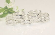 Wholesale Lots 10pcs 925 Silver Fashion wavy toe rings Adjustable