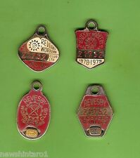 #D82. FOUR   REVESBY WORKERS CLUB 1978/79  to 1986/87  BADGES #21752