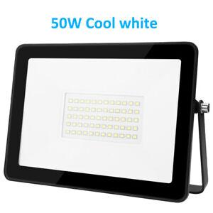 LED Fluter Strahler 50W SMD Außen IP66 Scheinwerfer Flutlicht Kaltes Weiß-DHL