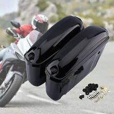 US Motorcycle Trunk Saddlebags Side Hard Case For Harley Softail DYNA Sportster