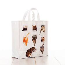 McCaw Allan Heads or Tails Medium Gusset PVC reusable shopping bag cats