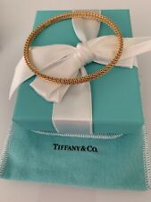 New Tiffany & Co. 18k Rose Gold Somerset Narrow Bangle Bracelet. Medium