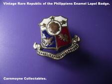 Rare Vintage Republic of the Philippiens Enamel Lapel Badge.AH8716.