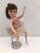Vintage 1950s Valentine Valentina Vinyl Ballerina Doll Marked 11VW 10.5""