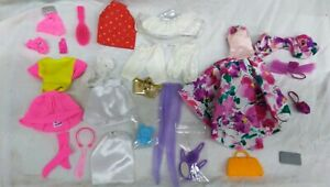 """Vtg  1980's 10+ pieces, lot #3 Clothes for Barbie or 11.5"""" clone doll"""