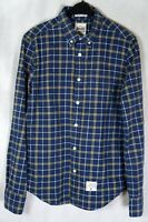✔️ SUPERDRY THE DRY OXFORD Long Sleeve Check Chequered Shirt Blue Size M Medium
