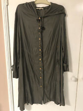GORGEOUS LADIES MEGAN SALMON LONG SLEEVE DUSTER HOODIE JACKET SIZSE 14 NWOT
